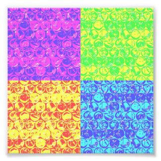 Rainbow bubble wrap pop art photographic print
