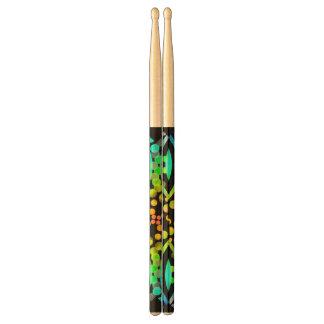 Rainbow Bubbles Color Field Bright Beautiful Vivid Drumsticks