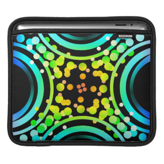 Rainbow Bubbles Color Field Bright Beautiful Vivid Sleeves For iPads