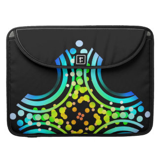 Rainbow Bubbles Color Field Bright Beautiful Vivid Sleeves For MacBook Pro