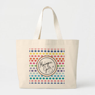 Rainbow Bubbles for MG Large Tote Bag