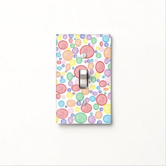 Rainbow Bubbles Lightened Light Switch Cover