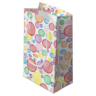 Rainbow Bubbles Lightened Small Gift Bag
