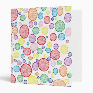 Rainbow Bubbles Lightened Vinyl Binders