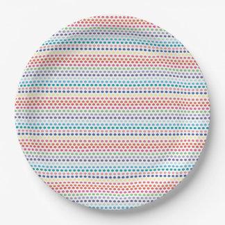 Rainbow Bubbles Paper Plate