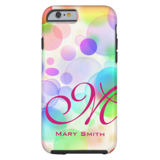 Rainbow Bubbles Tough iPhone 6 Case