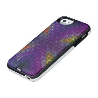 Rainbow Bubblewrap Fractal Disco Lights iPhone SE/5/5s Battery Case