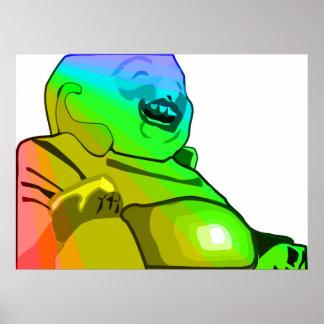 Rainbow Buddha Posters