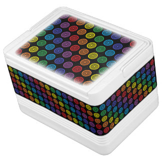 Rainbow Bullseye Black