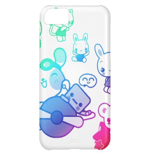 rainbow bunnies and bears iPhone 5C cover