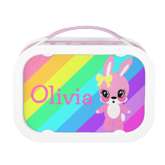 Rainbow Bunny Rabbit Lunchbox