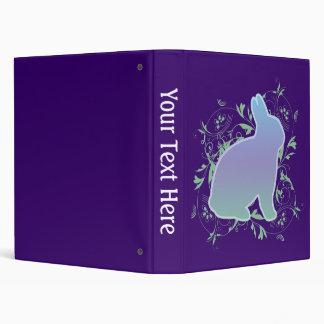 Rainbow bunny & Swirls on Purple Binder