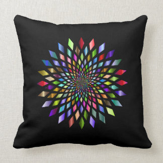 Rainbow Burst Geometrical Design Pillow