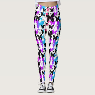 Rainbow Butterfly Abstract Multicolored Teen Girl Leggings