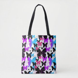 Rainbow Butterfly Abstract Multicolored Teen Girl Tote Bag