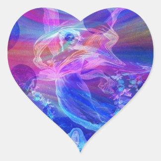 Rainbow, Butterfly, Angel Heart Sticker