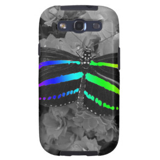 Rainbow Butterfly Color Pop Photography Galaxy S3 Cases