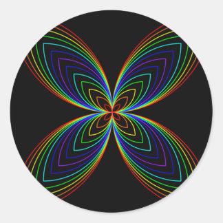 Rainbow Butterfly Effect Classic Round Sticker