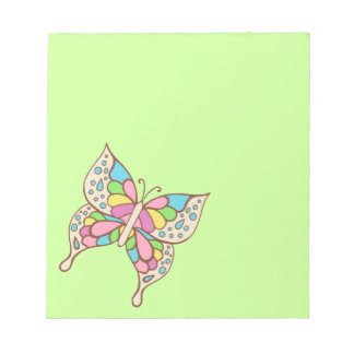 Rainbow Butterfly Notepad