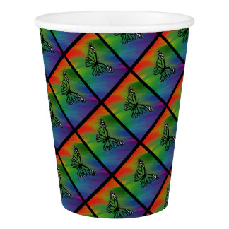 """""""Rainbow Butterfly"""" Paper Cup"""