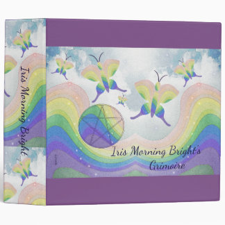 Rainbow Butterfly Pentacle BoS Lg. Choose BG col Binder