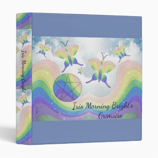 Rainbow Butterfly Pentacle BoS Sml. Choose BG col Binder
