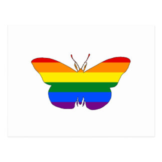 Rainbow Butterfly Postcard