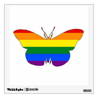 Rainbow Butterfly Wall Decal