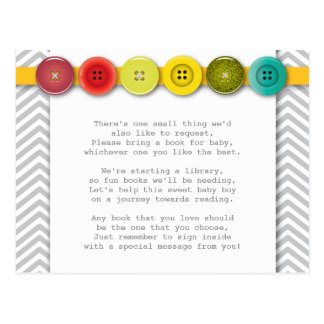 Rainbow Button Insert card Postcard