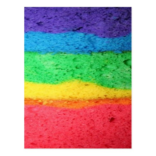 Rainbow Cake Postcard