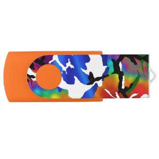 Rainbow Camo Swivel USB 3.0 Flash Drive