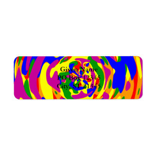 Rainbow Camouflage Sphere Return Address Label