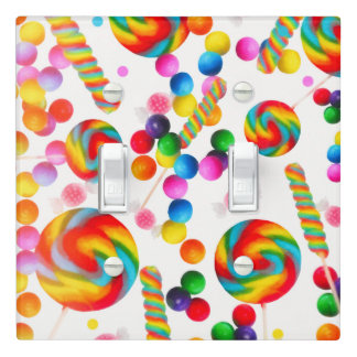 Rainbow Candy Sweet Lollipops Candyland Custom Light Switch Cover