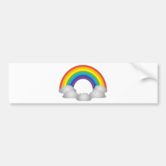 Rainbow Cartoon Bumper Sticker