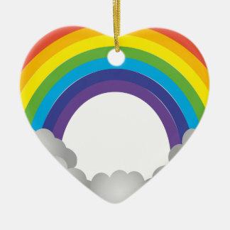 Rainbow Cartoon Ceramic Ornament