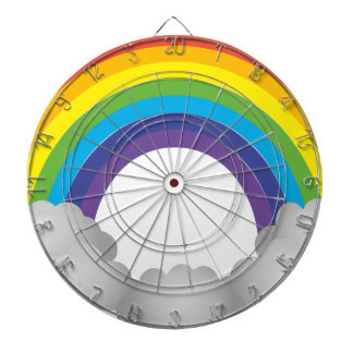 Rainbow Cartoon Dartboard