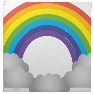 Rainbow Cartoon Napkin