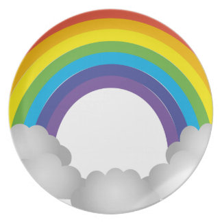 Rainbow Cartoon Plate