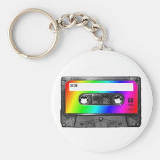 Rainbow Cassette Tape Keychains