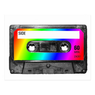 Rainbow Cassette Tape Postcard