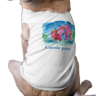 Rainbow castle fantasy watercolor illustration shirt