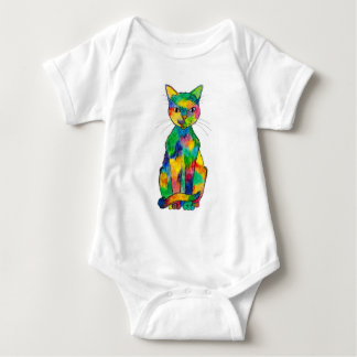 Rainbow Cat Baby Bodysuit