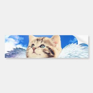 rainbow cat bumper sticker