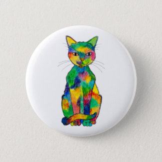Rainbow Cat Button