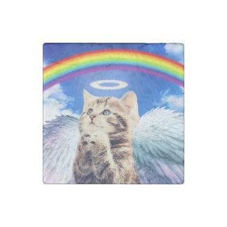 rainbow cat - cat praying - cat - cute cats stone magnets