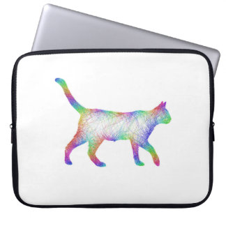 Rainbow cat computer sleeves