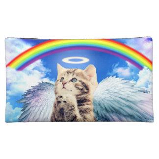 rainbow cat cosmetic bags