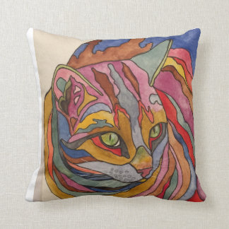 Rainbow Cat Design Pillow No. 2