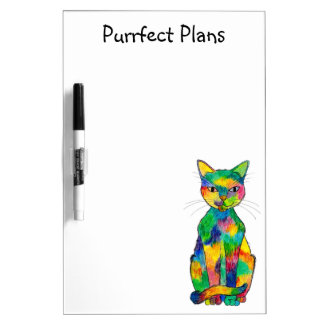 Rainbow Cat Dry Erase Board