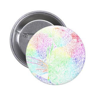 Rainbow Cat Fur 2 Inch Round Button